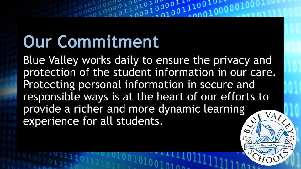 Protecting personal information in secure and responsible ways is at