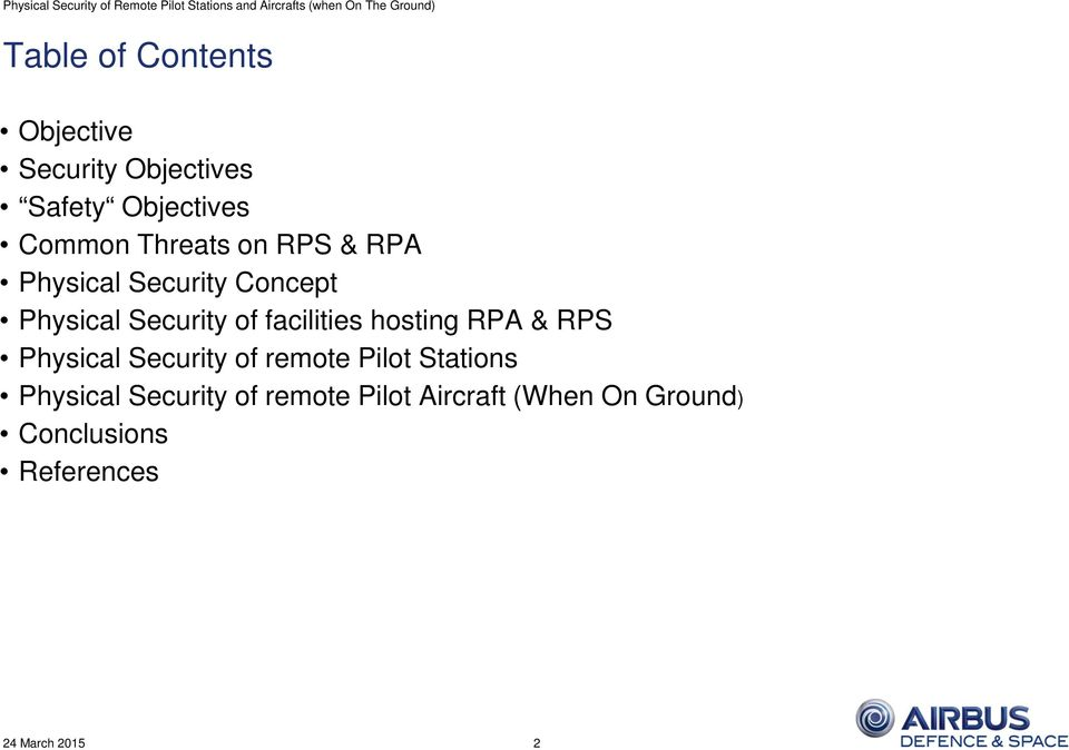facilities hosting RPA & RPS Physical Security of remote Pilot Stations