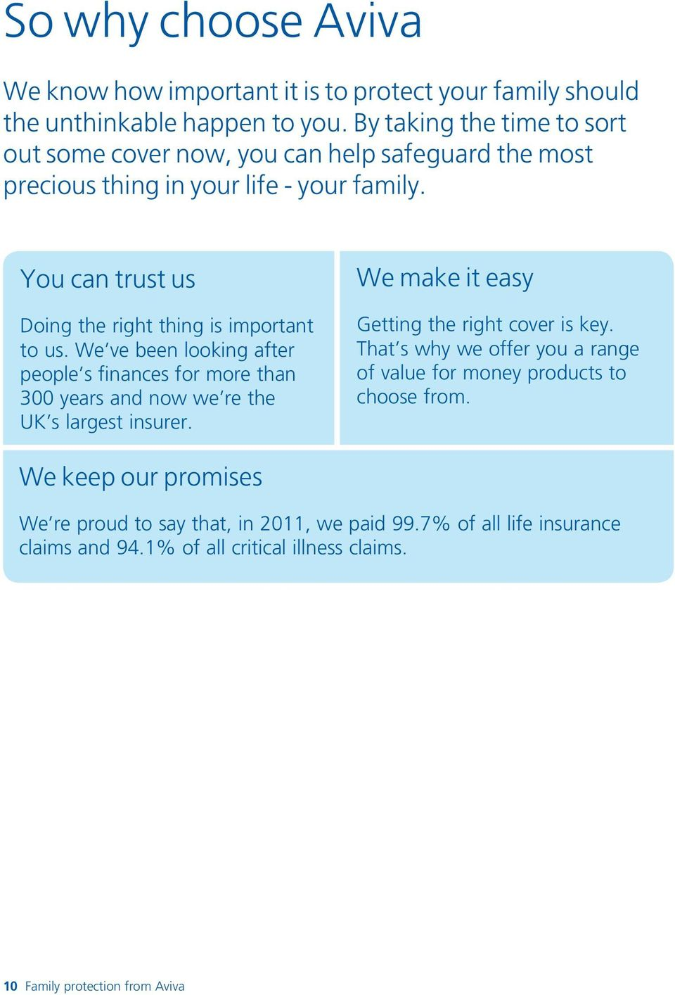 You can trust us Doing the right thing is important to us. We ve been looking after people s finances for more than 300 years and now we re the UK s largest insurer.
