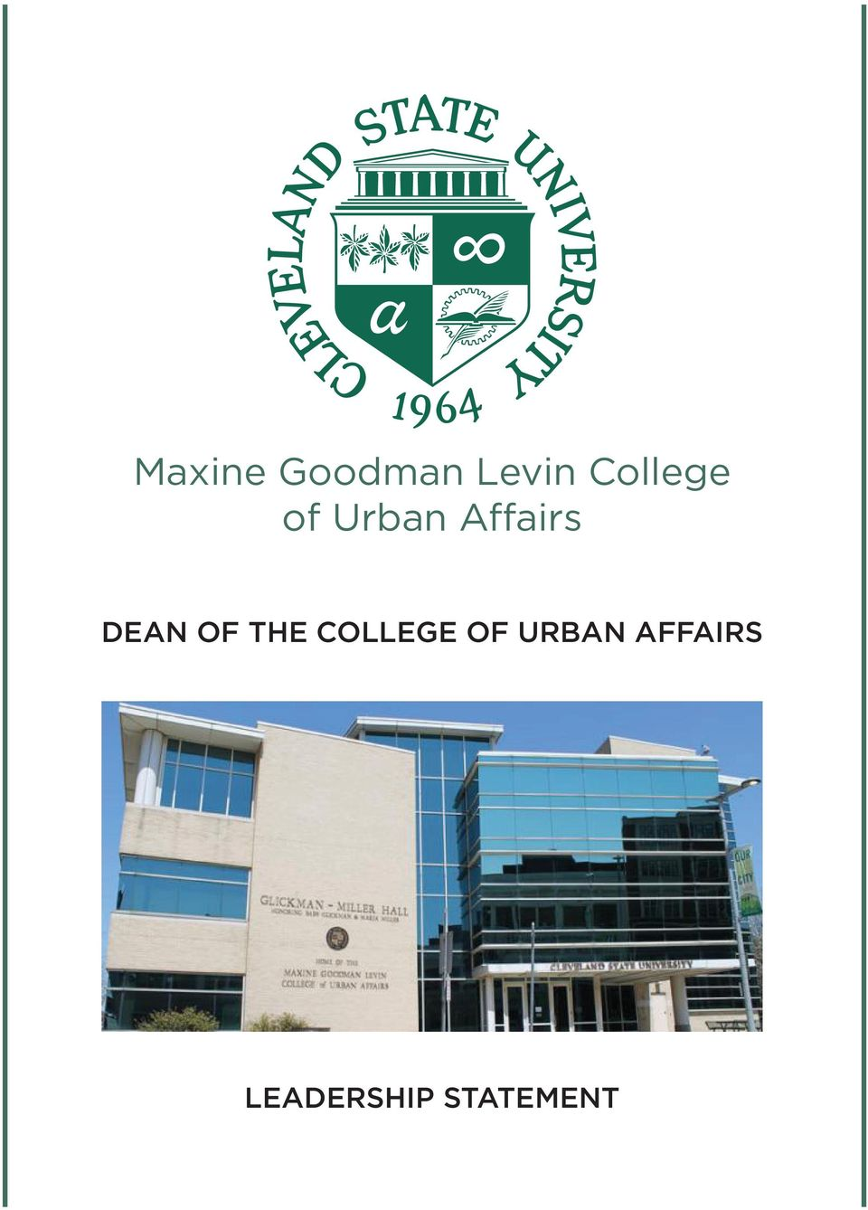 DEAN OF THE COLLEGE OF