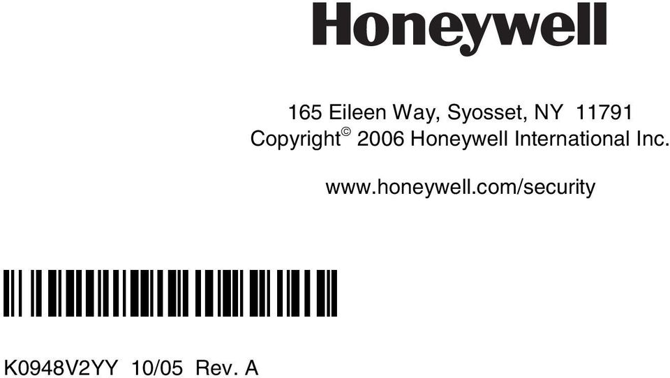 International Inc. www.honeywell.