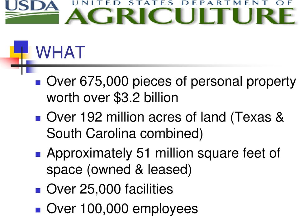 Carolina combined) Approximately 51 million square feet of
