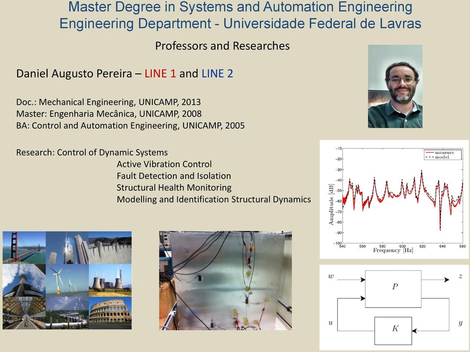 Control and Automation Engineering, UNICAMP, 2005 Research: Control of Dynamic Systems