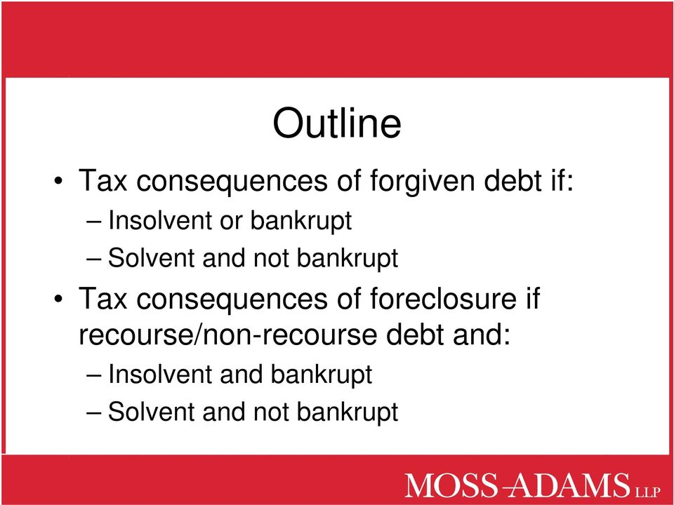 consequences of foreclosure if