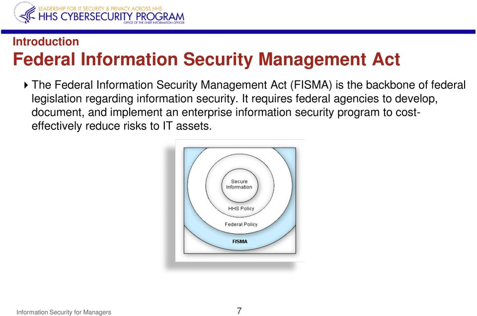It requires federal agencies to develop, document, and implement an enterprise information