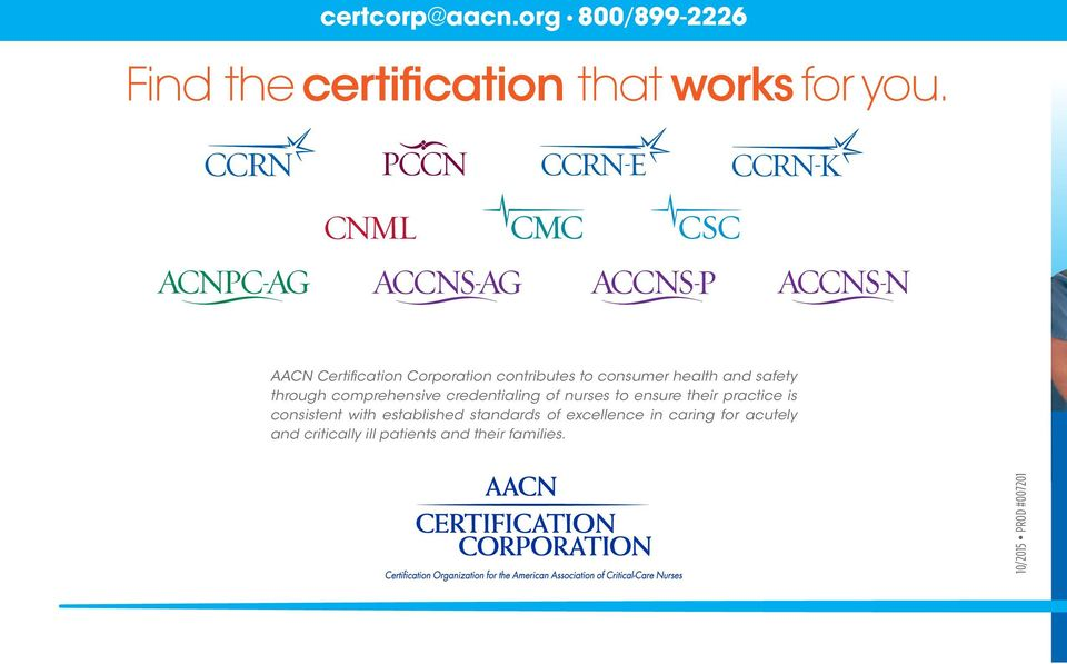 comprehensive credentialing of nurses to ensure their practice is consistent with