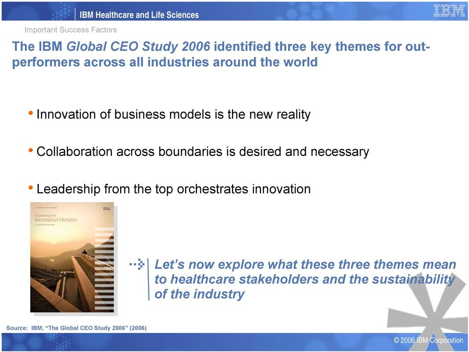 across boundaries is desired and necessary Leadership from the top orchestrates innovation Let s now explore what these