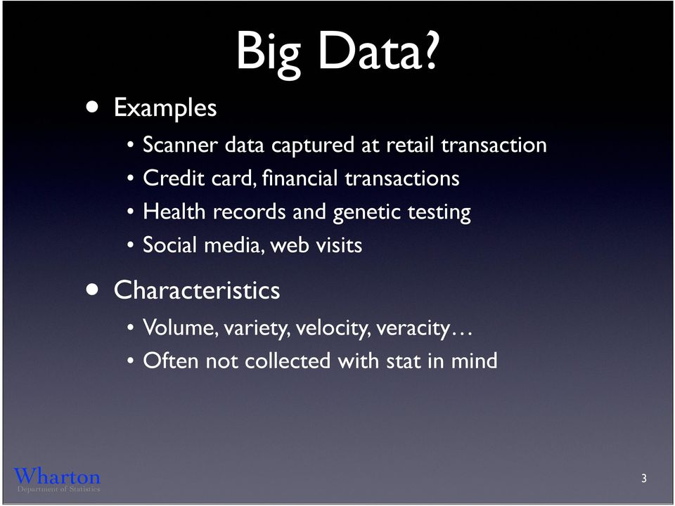 card, financial transactions Health records and genetic