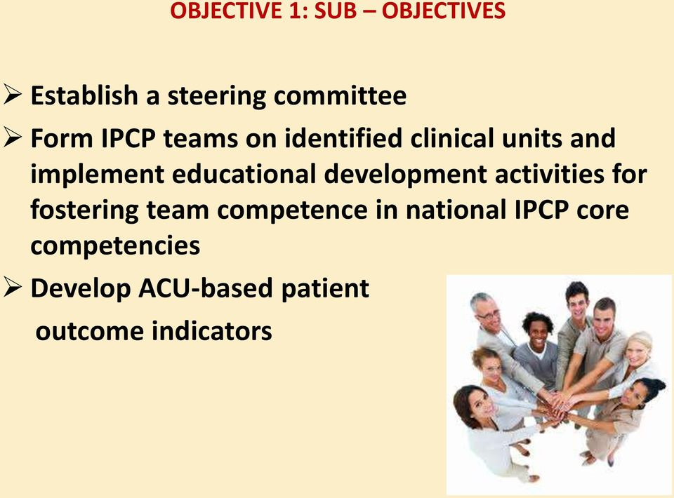 development activities for fostering team competence in national