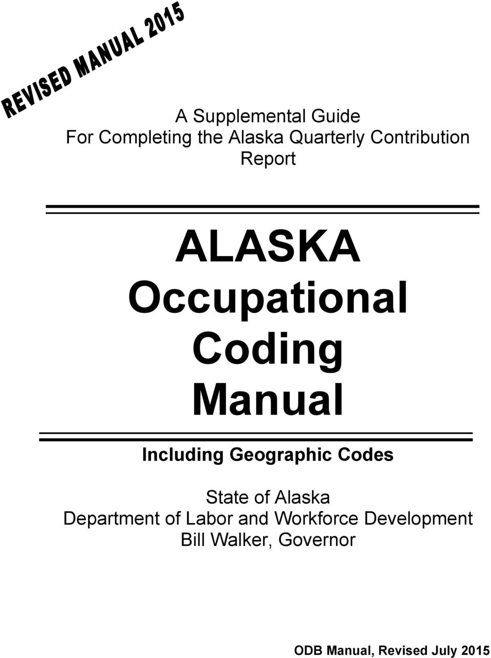 Including Geographic Codes State of Alaska Department of Labor