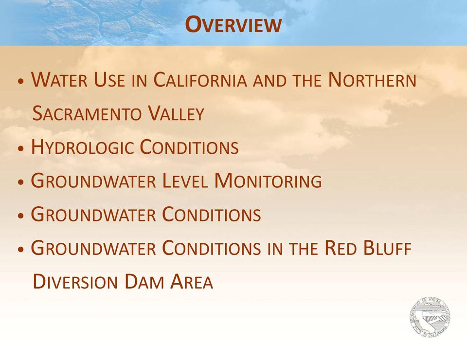 GROUNDWATER LEVEL MONITORING GROUNDWATER