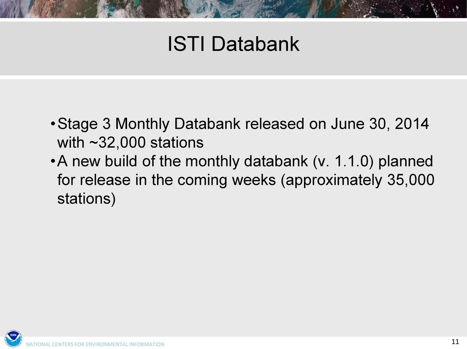 the monthly databank (v. 1.