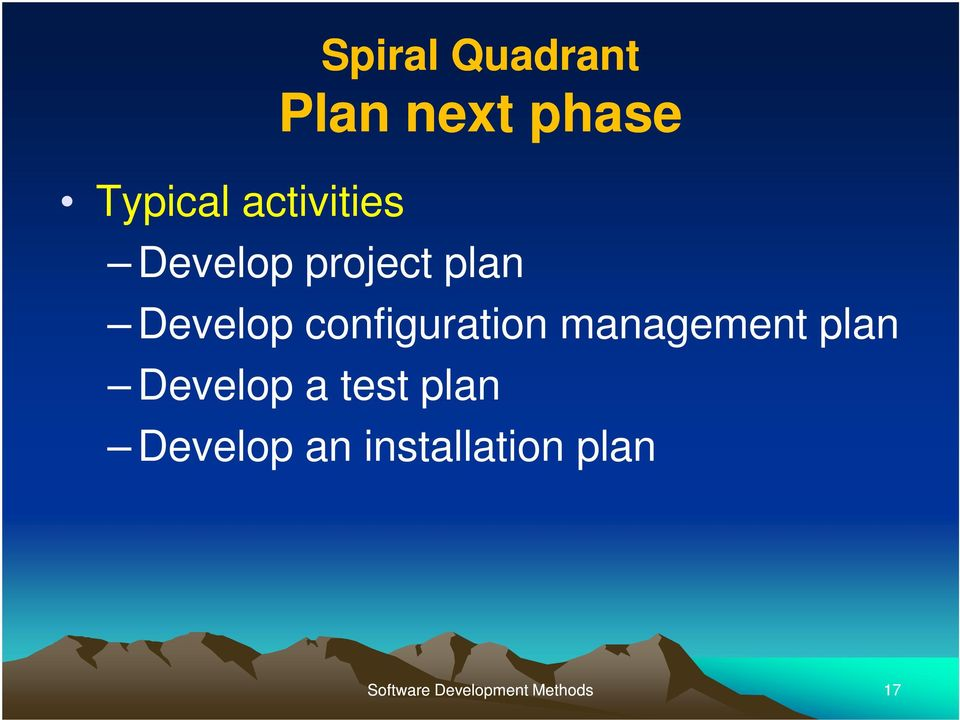 configuration management plan Develop a