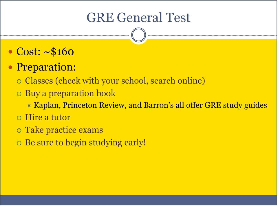 Kaplan, Princeton Review, and Barron s all offer GRE study