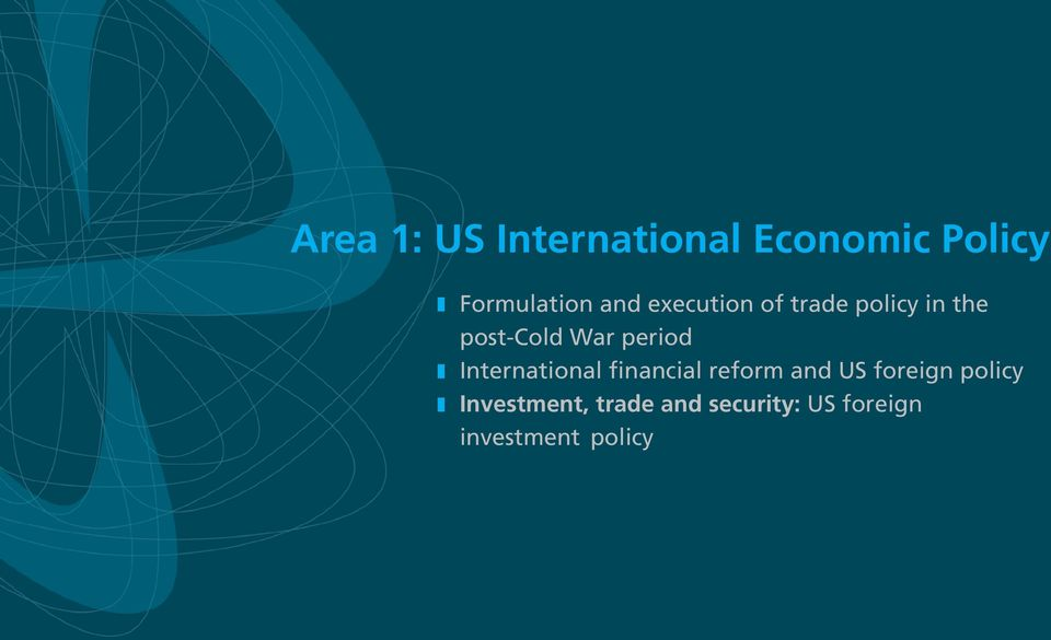 z International financial reform and US foreign policy z