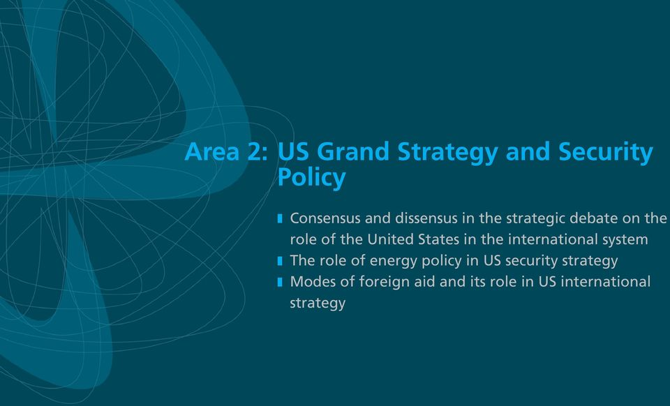 in the international system z The role of energy policy in US