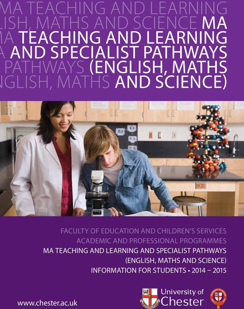 CHILDREN S SERVICES ACADEMIC AND PROFESSIONAL PROGRAMMES MA TEACHING AND LEARNING AND