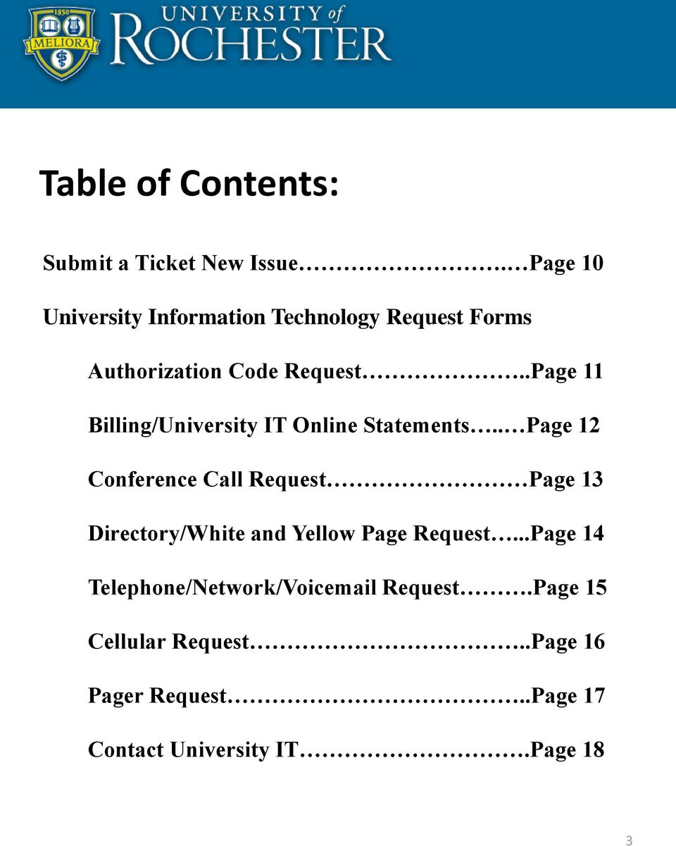 .Page 11 Billing/University IT Online Statements.