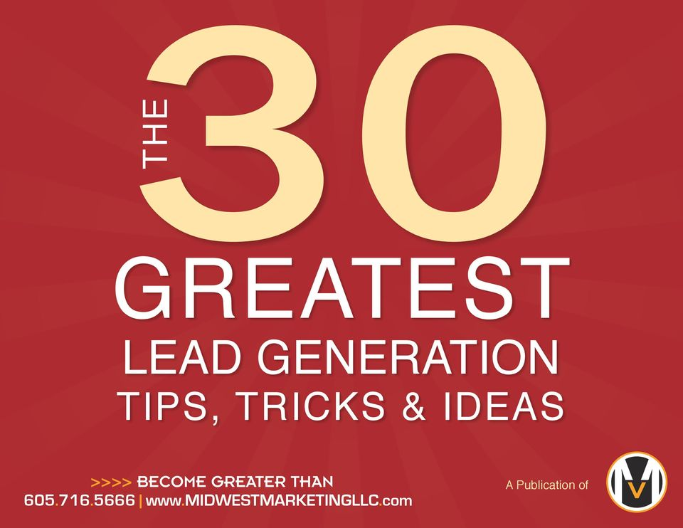 TRICKS & IDEAS >>>> BECOME GREATER THAN 605.716.