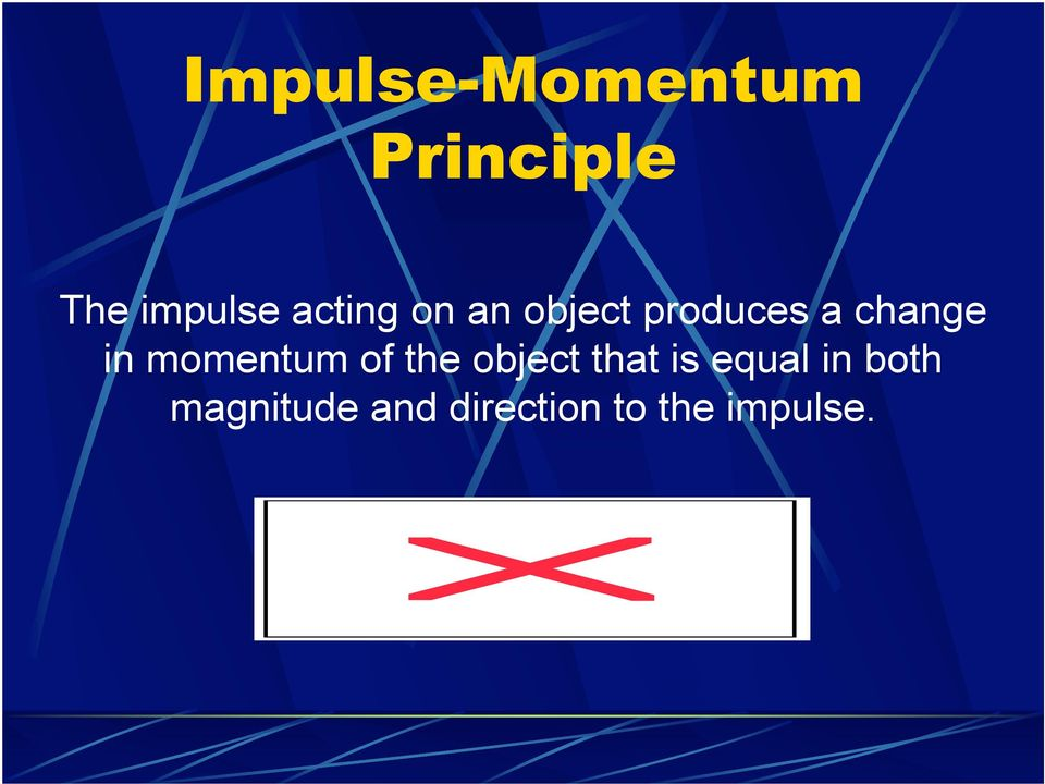 momentum of the object that is equal in