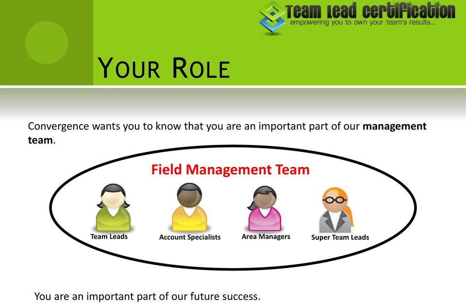 Field Management Team Team Leads Account Specialists