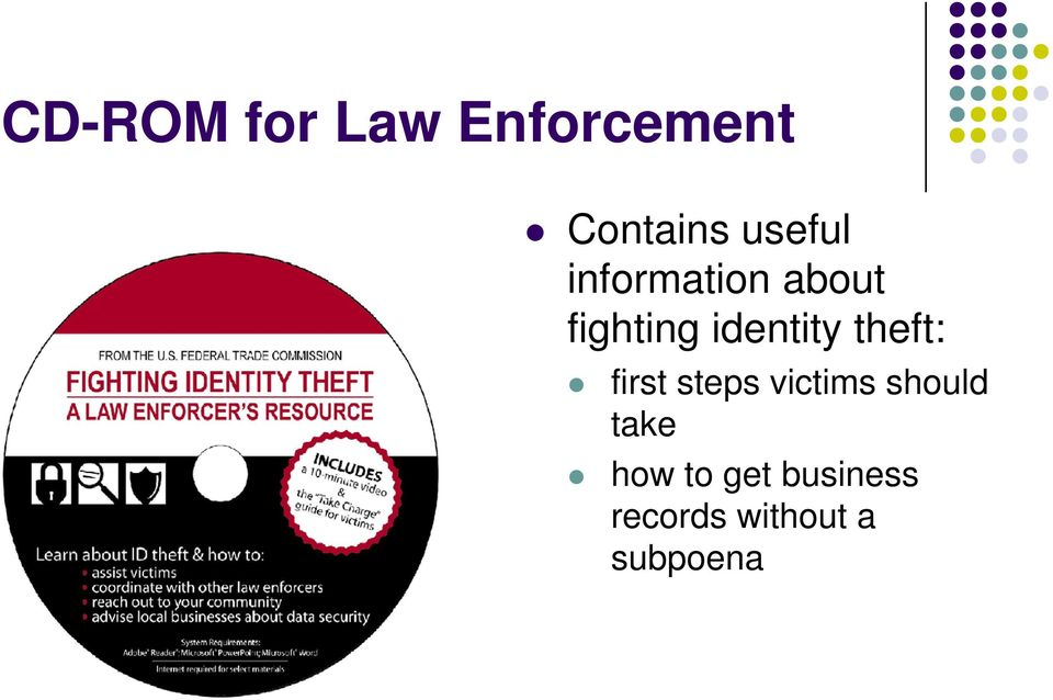 identity theft: first steps victims