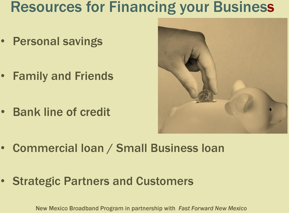 line of credit Commercial loan / Small