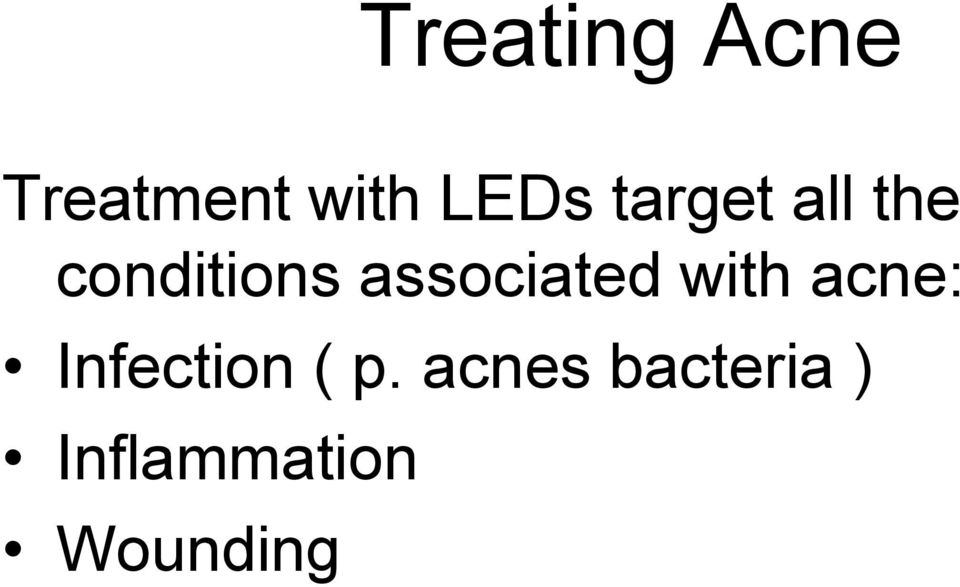 associated with acne: Infection (