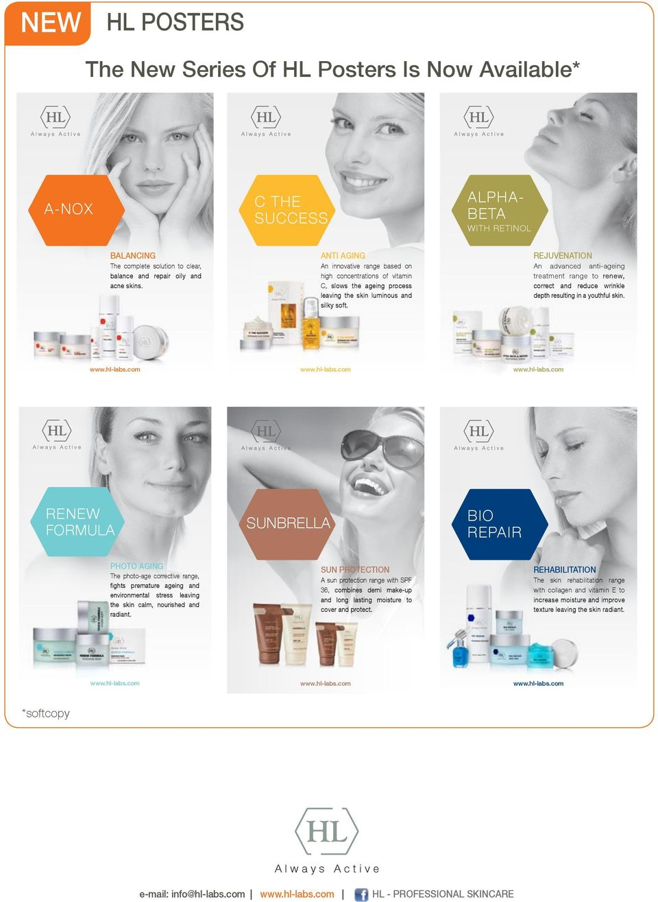 REJUVENATION An advanced anti-ageing treatment range to renew, correct and reduce wrinkle depth resulting in a youthful skin.