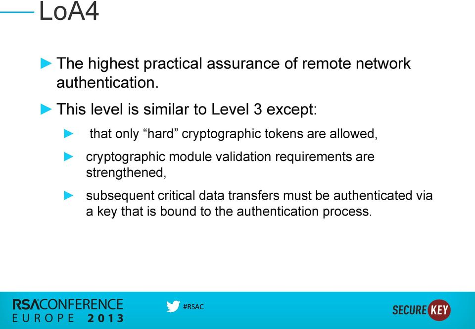 allowed, cryptographic module validation requirements are strengthened, subsequent