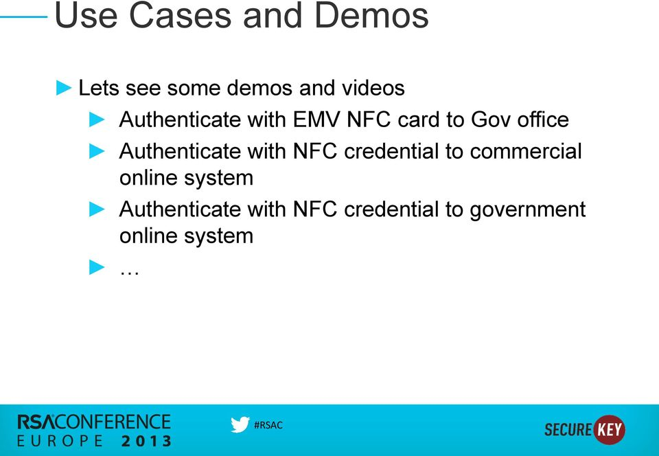 Authenticate with NFC credential to commercial online