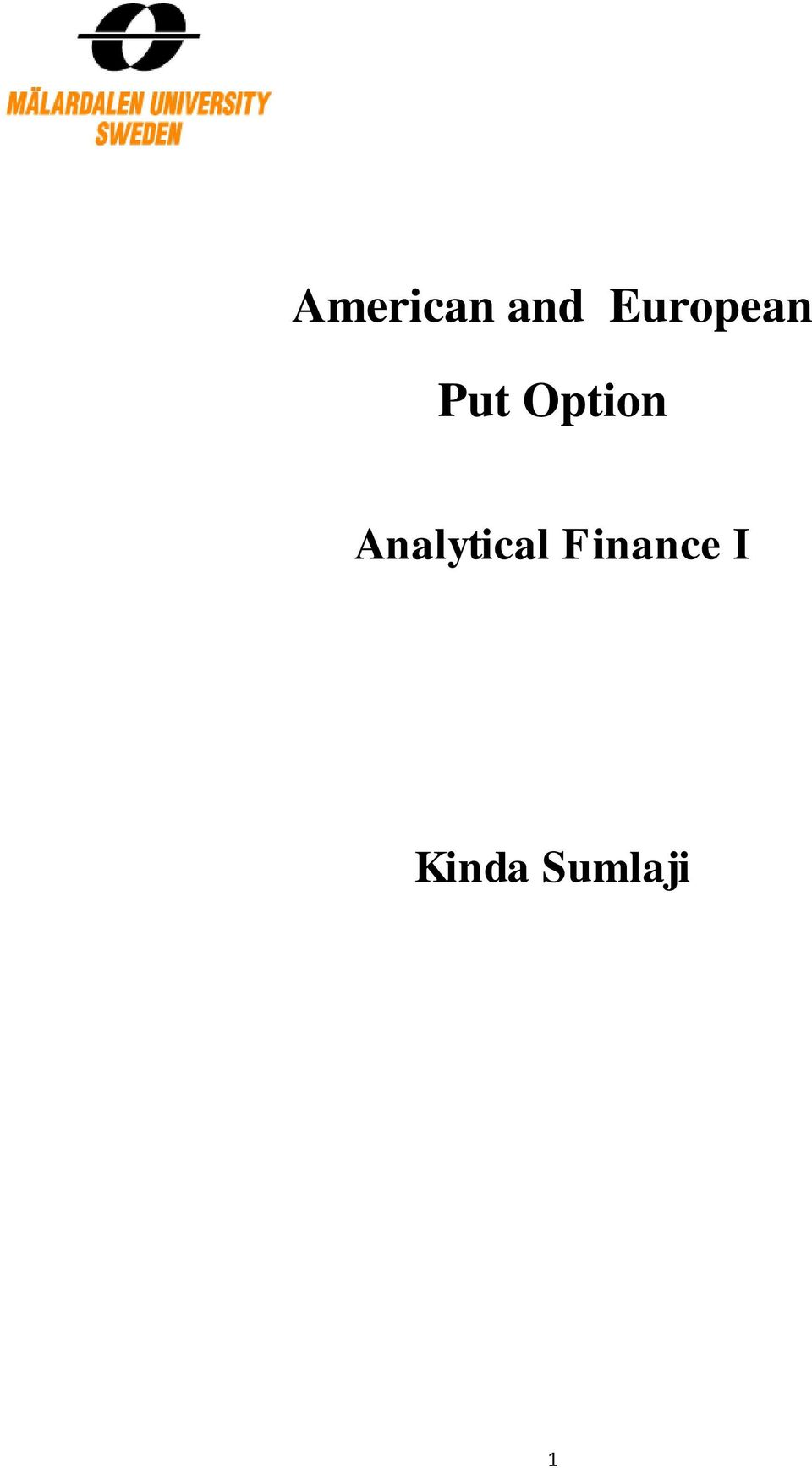 Option Analytical