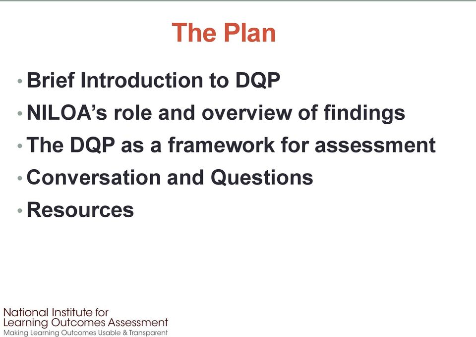 findings The DQP as a framework for
