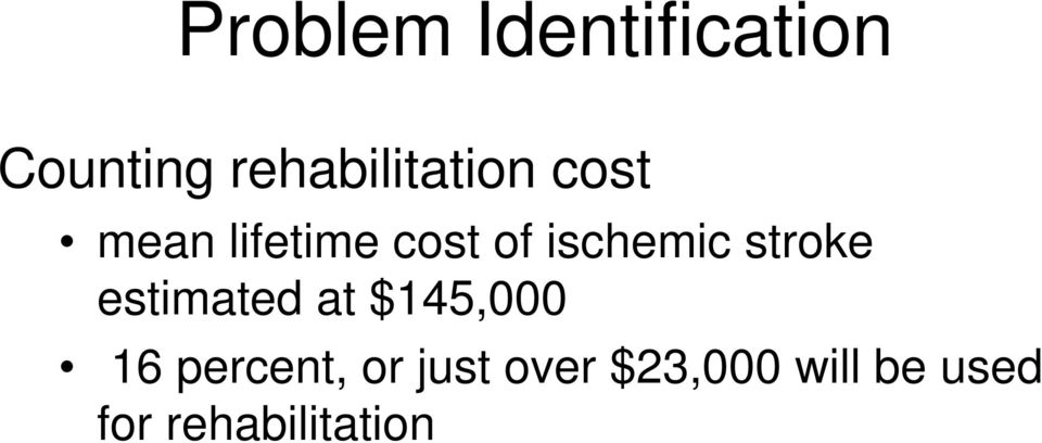 ischemic stroke estimated at $145,000 16