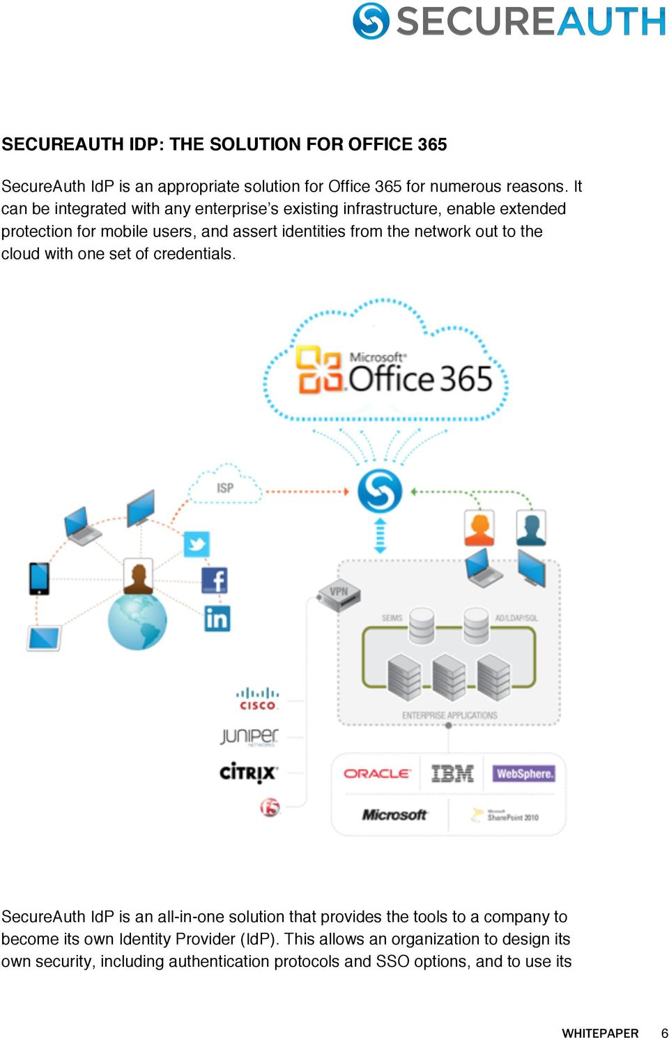network out to the cloud with one set of credentials.