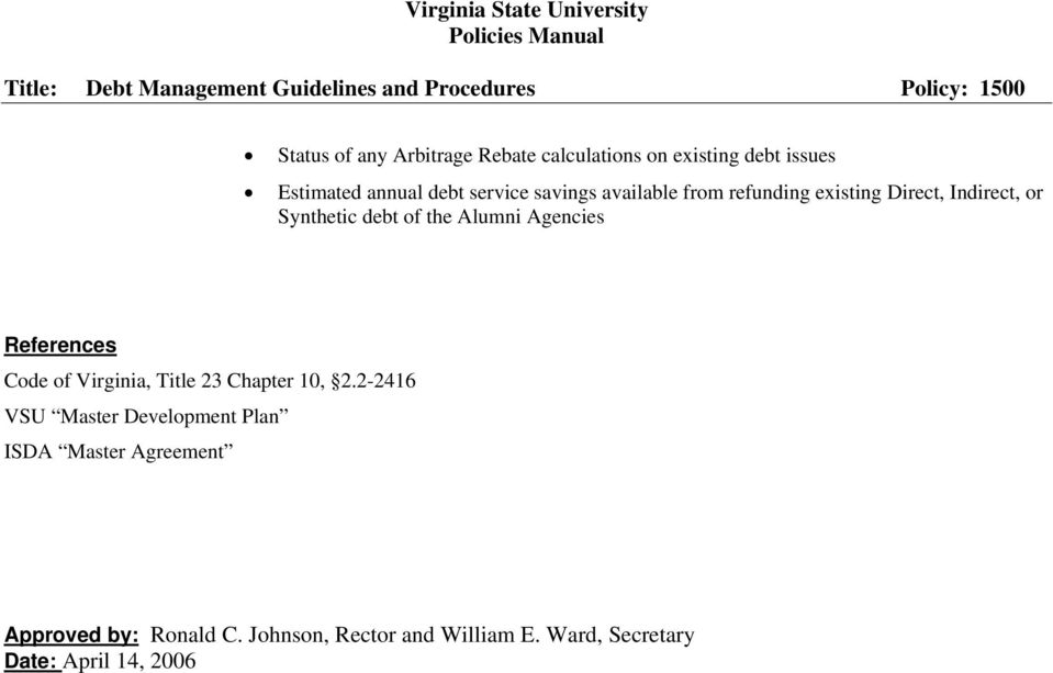 Agencies References Code of Virginia, Title 23 Chapter 10, 2.