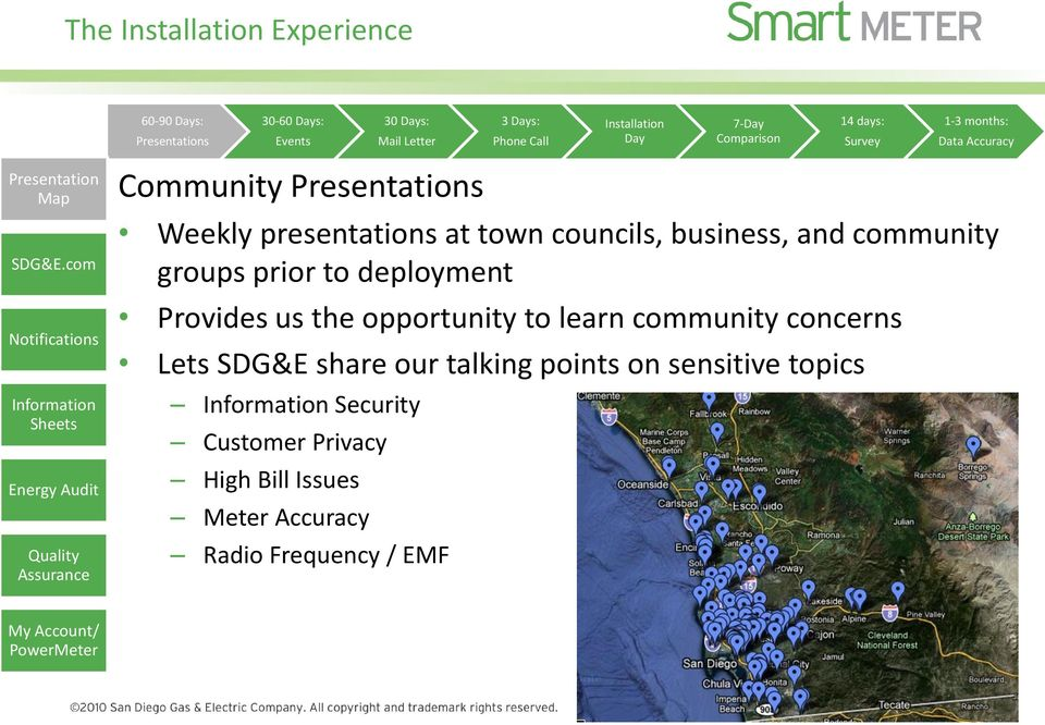 com Notifications Information Sheets Energy Audit Quality Assurance Community Presentations Weekly presentations at town councils, business, and community