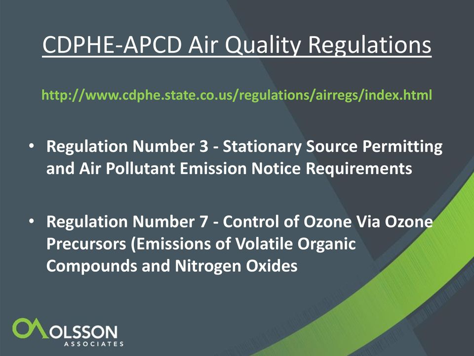 html Regulation Number 3 - Stationary Source Permitting and Air Pollutant