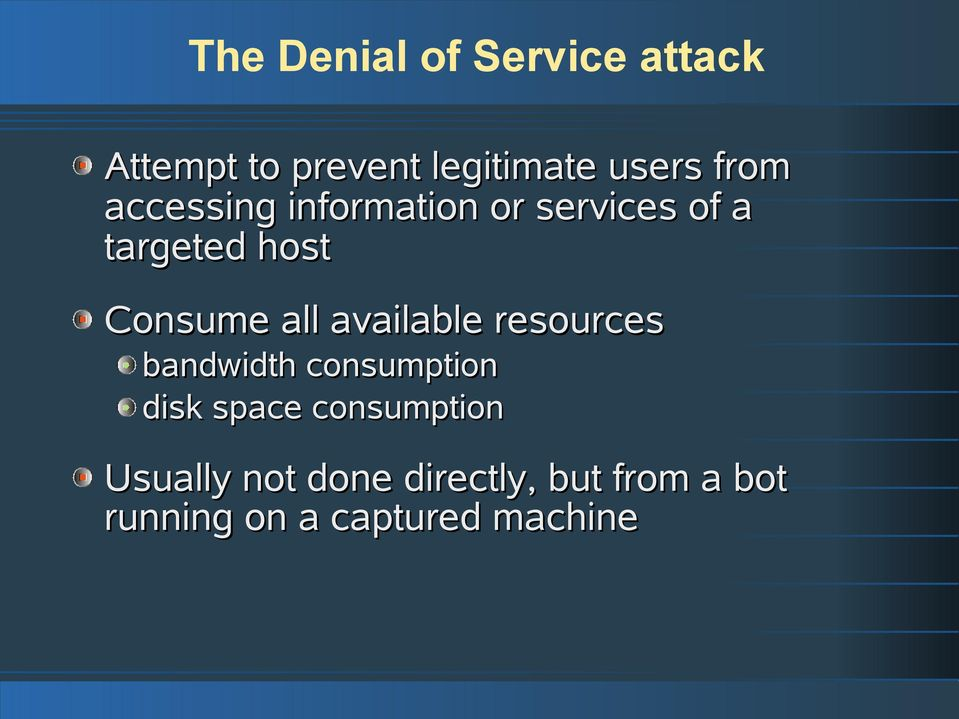distributed denial of service attacks essay