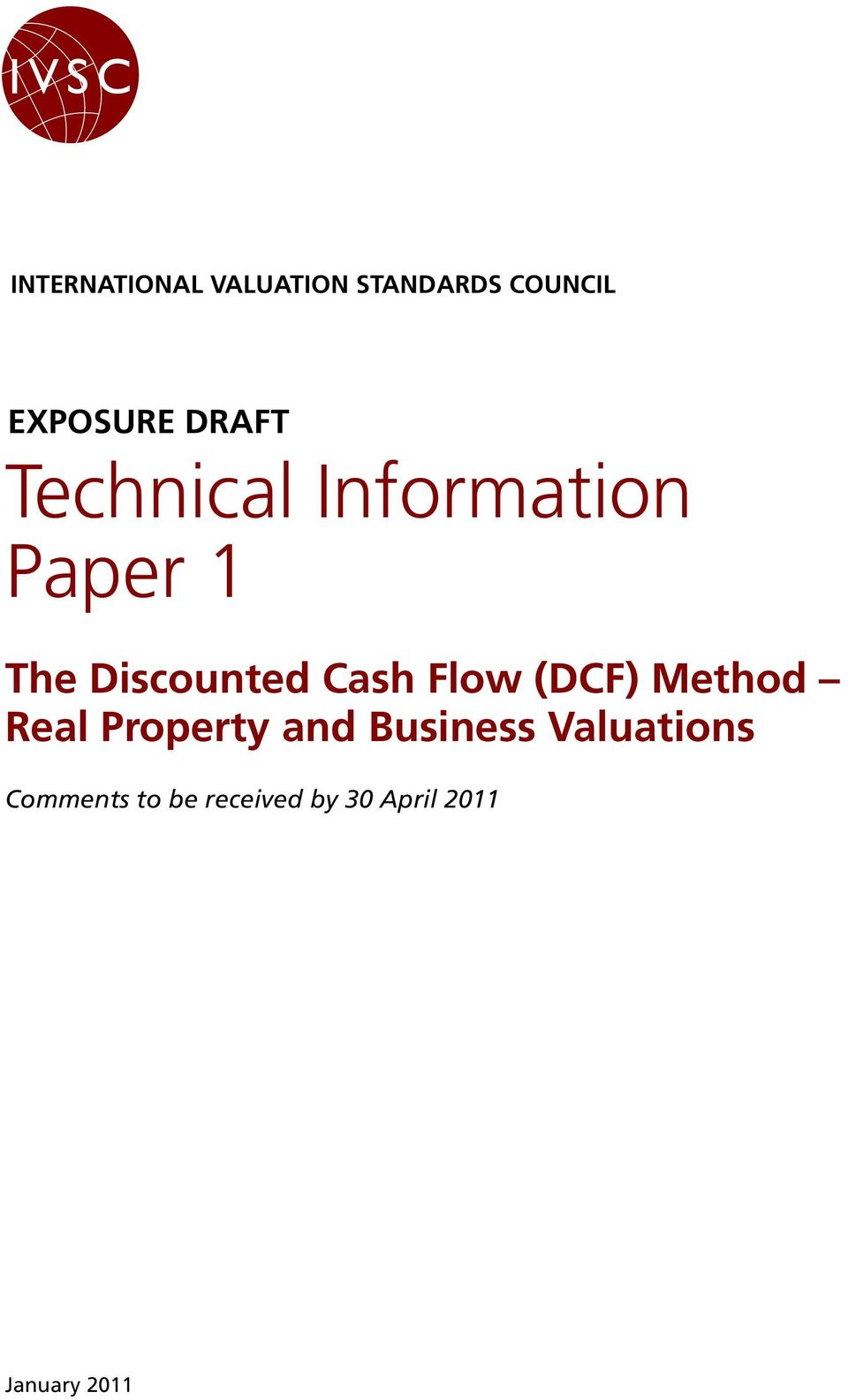 Cash Flow (DCF) Method Real Property and Business
