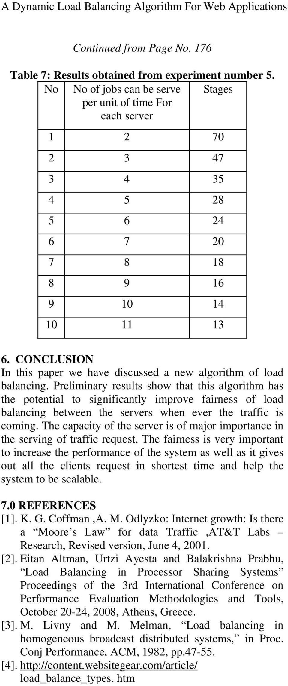 CONCLUSION In this paper we have discussed a new algorithm of load balancing.