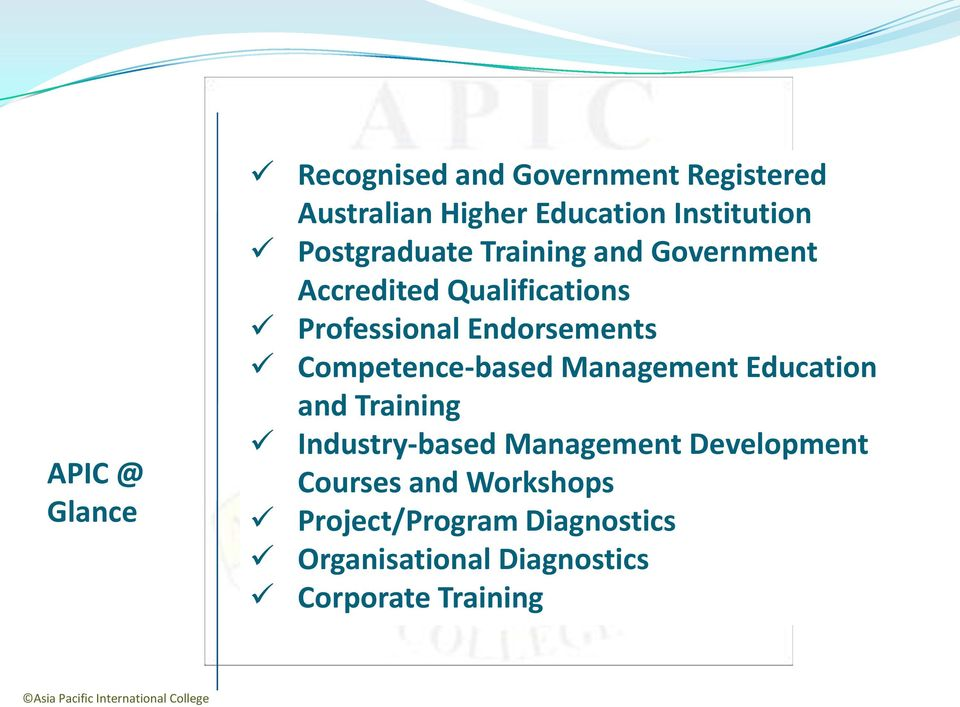 Competence-based Management Education and Training Industry-based Management Development Courses