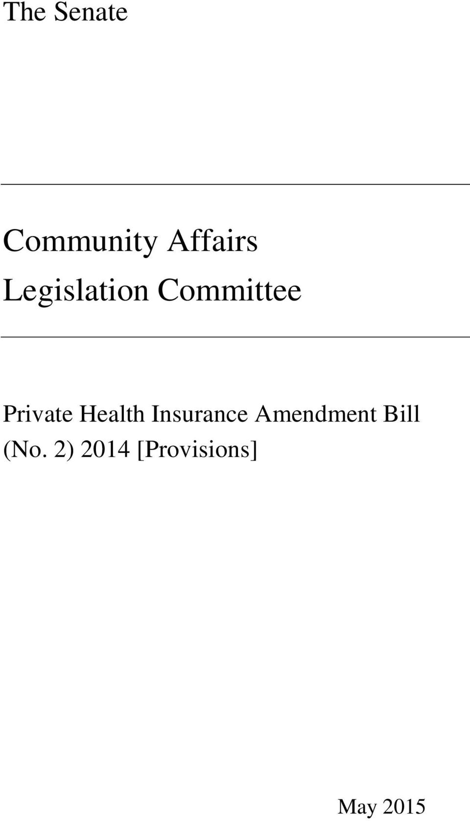 Health Insurance Amendment Bill