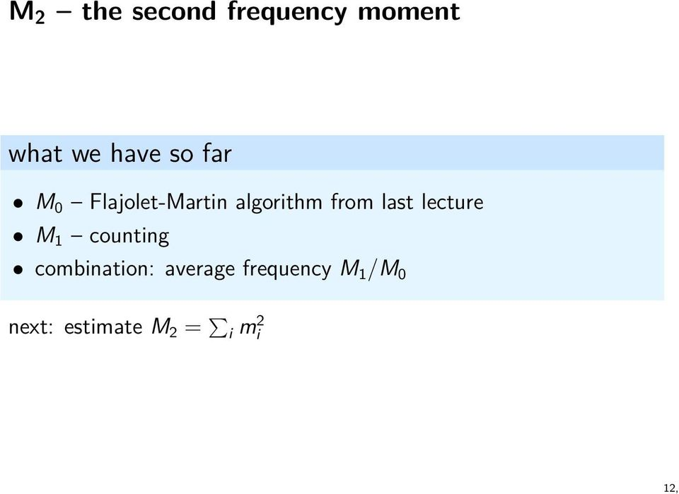 last lecture M 1 counting combination: