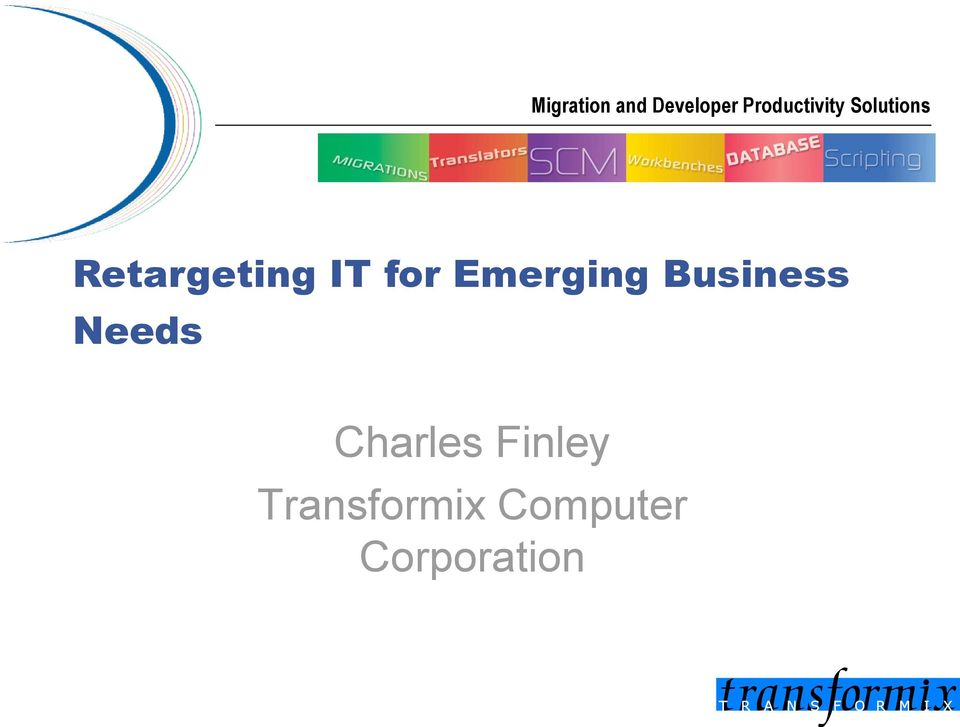 IT for Emerging Business Needs