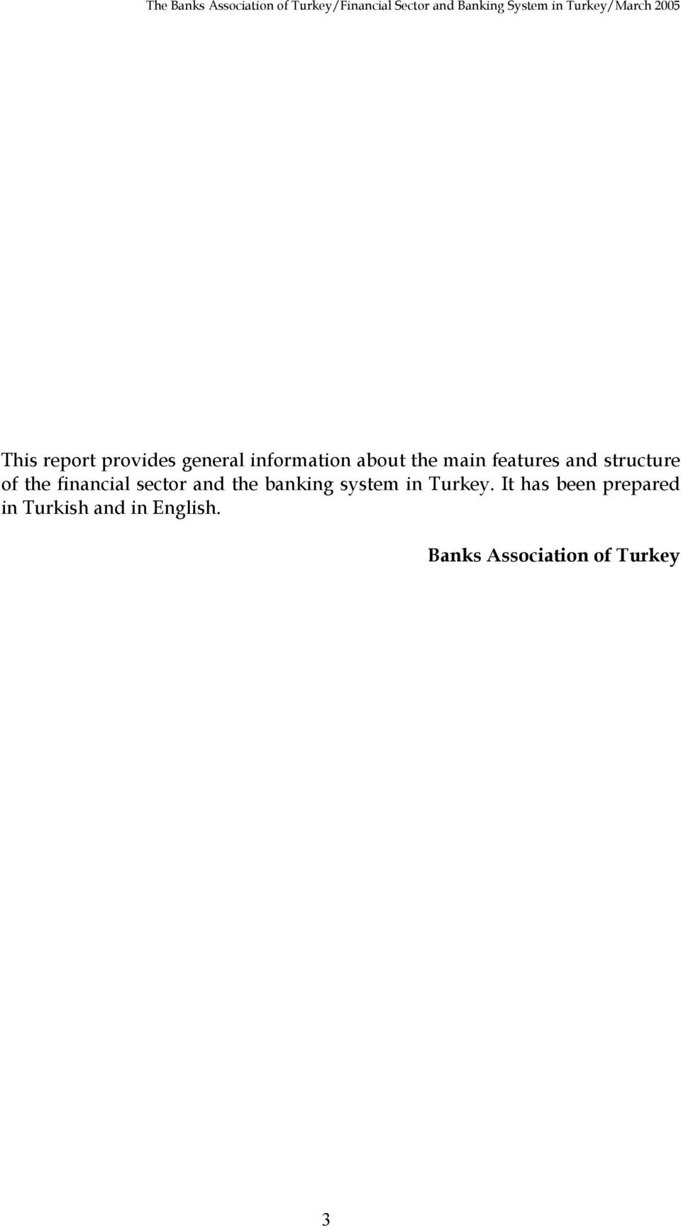 and the banking system in Turkey.
