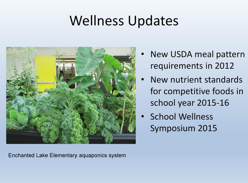 competitive foods in school year 2015-16 School