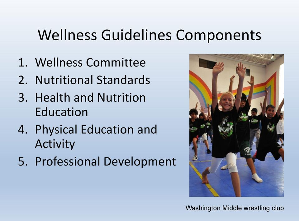 Health and Nutrition Education 4.