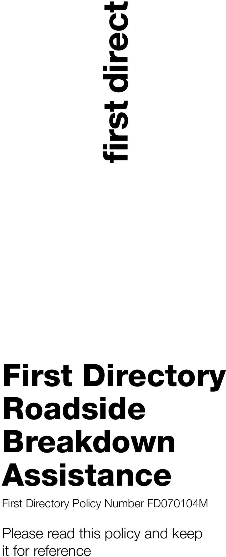 Directory Policy Number FD070104M