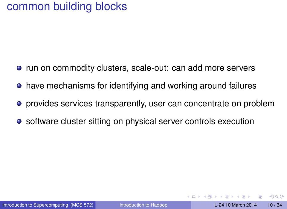 user can concentrate on problem software cluster sitting on physical server controls